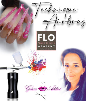 Airbrush technique by FloNails with Glam'addict